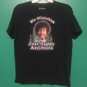 Bob Ross Graphic Tee Shirt Large